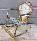 Vintage Shell Patio Chair Child's chair size salesman sample Midcentury bunting