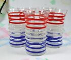 5 RED WHITE BLUE Betsy Ross Glasses Tumblers Anchor Hocking Flag Look Stripes