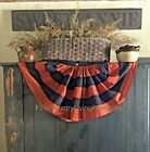 Primitive Country Farmhouse Fall Autumn Halloween Large Orange Black Bunting