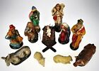 12 pc Nativity Set Vtg West German Christmas Baby Jesus Mary Wise Men Animals