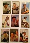 1953 Bowman color lot of 9 (Whitey Ford, NY Yankees HOF + 8 Stars VG No Creases)