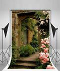Brick House Flower Door Photography Backgrounds 5x7ft Scenic Backdrops Props