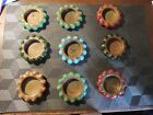 9 fisher jewel trays vitro agate marbles