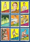 1972-73 Topps Basketball lot of 42 diff cards Lucas Bing Cunningham Issel