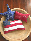 Primitive Stitchery Patriotic Star Flag July 4th Ornies Bowl Fillers