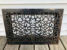 Antique Cast Iron Heat Grate Floor Vent Register Decorative 21