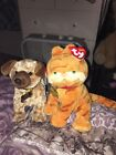 "TY Beanie Babies- Garfield and Odie Plush Set 6"" *NEW*"