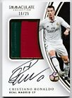 CRISTIANO RONALDO 2017 IMMACULATE PRIME PATCH JERSEY AUTO SP # 16 25 GO PORTUGAL