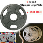 5 Pound Free Weight Plate For 2 Olympic Bar 5 LBS Grip Weight Plate Cast Iron