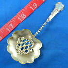 ANTIQUE ENAMEL HANDLE BON BON STERLING SILVER CANDY SPOON VERY GOOD CONDITION