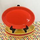 Fiestaware Small Platter Fiesta Sunflower Poppy Lot of 4 Serving Platters