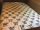 Vintage FEEDSACK fabrics Flower Basket QUILT TOP- HANDMADE Beautiful See Photos