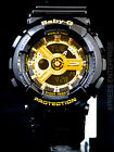 NEW WITH TAGS Casio Baby-G Analog Digital BA110-1A BLACK GOLD Watch