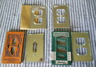 4 Vintage Mercury Glass Switch Outlet Cover Original Box Mirrored Lot