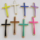 39pcs Fashion Style Mixed Color Connector Enamel Corss Pendant Charms 40mm