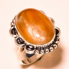 """Montana Agate Oval Gemstone .925 Sterling Silver Ring """"7.25"""""""