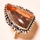 """Laguna Lace Agate Gemstone .925 Sterling Silver Ring """"7.75"""""""