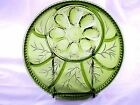 Indiana Glass Green Deviled Egg Snack Plate