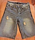 Xtreme Couture Denim Jeans Shorts W30 Premium Vintage Distressed Blue Rare EUC