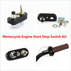1x Universal CNC Motorcycle Handlebar Engine Stop Start Kill Lever Switch Button