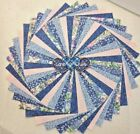 Quilting fabric Blue  Pink Floral 5 inch Charm pack Squares 60 pk