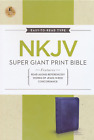 NKJV Super Giant Print Reference Bible Leathersoft Rich Navy BRAND NEW