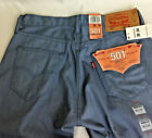 Levis 501 Shrink To Fit Jeans Indigo Light Blue Raw Denim 30 x 34 Button Front