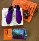 Lot of 4 Auth Hermes Women's  Boots  Scarf  Skarf Ring and Knotting Cards