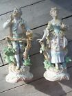 Antique Kalk Porcelain Victorian Figurines, Man and Woman  #7210, Germany  - VGC