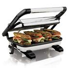 Panini Press Gourmet Home Grill Toaster Sandwich Maker Cafe Style Floating Lid