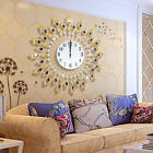 EP Modern Metal Wall Clock Diamond Rhinestone Iron Decor Art Silent Room Home O