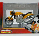 Majorette Voxan Roadster 1000 V2 Metallic Yellow 1:18 Scale Motorcycle Model Box