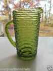 Anchor Hocking Glass Avocado Green Soreno 26 ounce Juice Pitcher