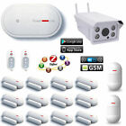 V30 APP WiFi GSM Wireless House Home Security Alarm System+Outdoor HD IP Camera