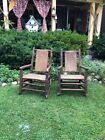 Signed Vintage Cabin Old Hickory Rocking Chairs 1940s