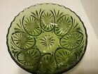 VINTAGE GREEN ANCHOR HOCKING OATMEAL PATTERN SERVING BOWL