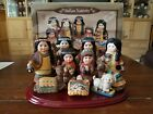 Woodlands Collection by Lincolnshire Indian Nativity Set Native American 4707