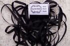 100PURE SILK EMBROIDERY RIBBON 1 84MM WIDE 25 YARDS BLACK COLOR
