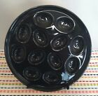 Fiestaware Slate Egg Tray Fiesta Charcoal Gray Grey Deviled Egg Serving Plate