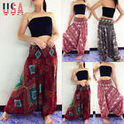 US Women Harem Pants Baggy Yoga Afghani Genie Indian Aladdin Trouser Plus Size
