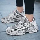 Mens 2018 White Running Shoes Breathable Light Trainers Outdoor Casual Sneakers