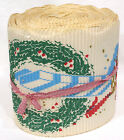 Vintage Christmas Corrugated Garland GIFT CENTER w Gifts and Wreath Print 1950s