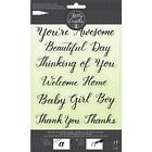 Kelly Creates Traceable SENTIMENT Stamp Set Thinking of You Thanks Baby Girl