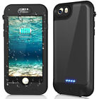 For iPhone XS 8 7 6 Plus Waterproof Extended Battery Power Charging Backup Case