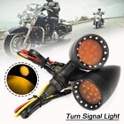 LED Bullet Amber Brake Stop Running Turn Signal Tail Light For Motorcycle Harley