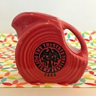 Fiestaware Scarlet Mini Disc Pitcher Fiesta Red 2005 Tri State Pottery Festival