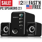 Computer PC Speakers 21 Desktop with Subwoofer Audio Laptop USB Portable Mini