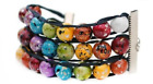 Ablet Knitting Abacus Row Counter Bracelet, Painted Rainbow, 3-Tier - Count Your