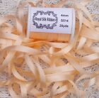 100PURE SILK EMBROIDERY RIBBON 1 84MM WIDE 25 YARDS MISTY PEACH COLOR