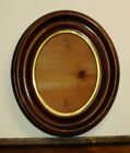 1800s  VICTORIAN DEEP OVAL WOOD with GOLD LINER  PORTRAIT PICTURE FRAME - 8 X 10